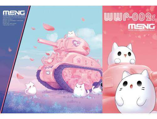 Meng M4A1 Sherman (CartoonModel,pink color incl.resin cartoon kitten figurines) (WWP-002s)