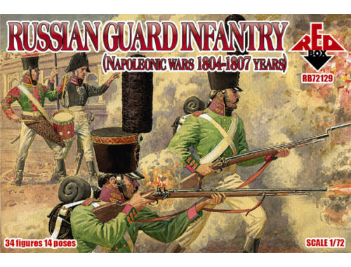 Red Box Russian gurad infantry, 1804-1807 1:72 (RB72129)