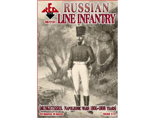 Red Box Russian line infantry(Musketeers)1805-08 1:72 (RB72131)