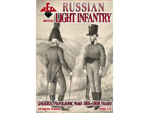 Red Box Russian light infantry (Jagers)1805-1808 1:72 (RB72132)