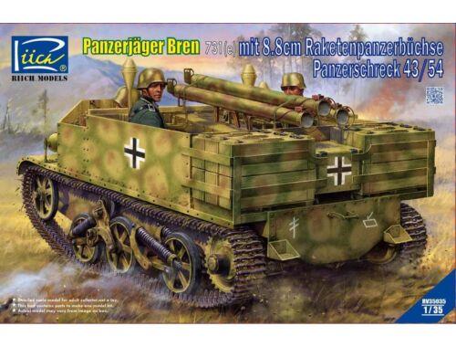 Riich Models Panzerjäger Bren 731(e)mit 8,8cm Raketen - Panzerschreck 43/54 1:35 (RV35035)