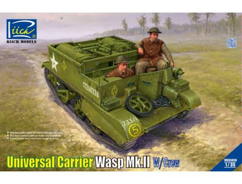 Riich Models Universal Carrier Wasp Mk.II with Crew 1:35 (RV35036)