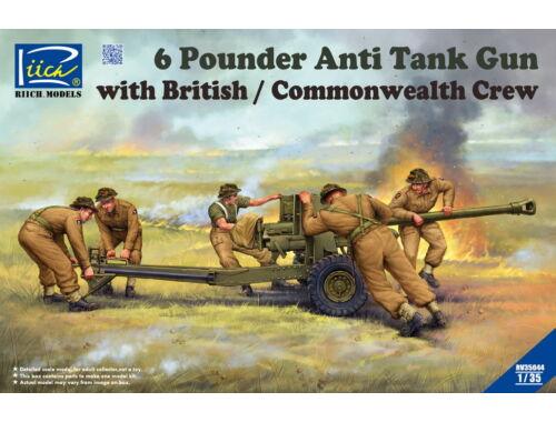 Riich Models 6 Pounder Anti Tank Gun with British Commonwealth Crew 1:35 (RV35044)