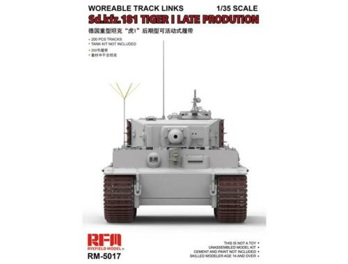 Rye Field Model Workable Track Links for Tiger I Late 1:35 (5017)