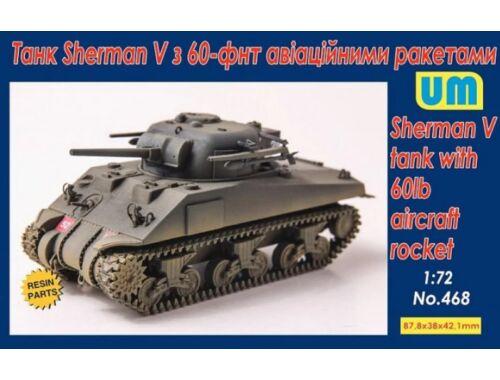 Unimodels Sherman V Tank with 60lb aircraft rocket 1:72 (UM468)