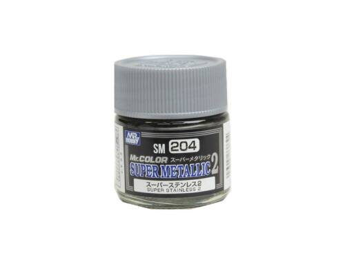 Mr.Hobby Mr.Color Super Metallic Colors II SM-204 Super Stainless