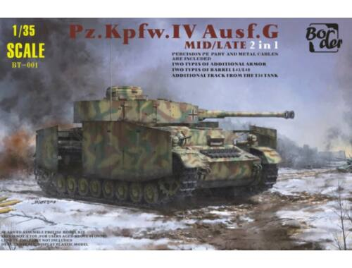 Border Model Pz.Kpfw.IV Ausf.G Mid/Late 2 in 1 1:35 (BT001)