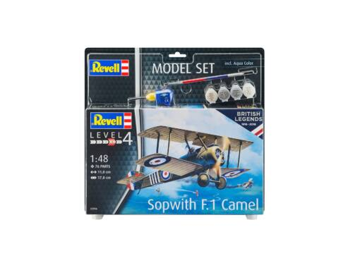 Revell Model Set British Legends - Sopwith Camel 1:48 (63906)