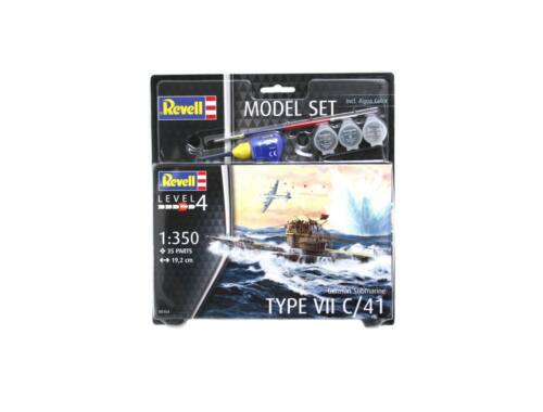 Revell Model Set German Submarine Type VII C/41 1:1200 (65154)
