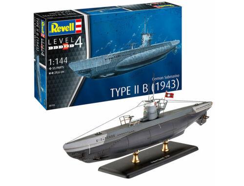 Revell Model Set German Submarine Type IIB (1943) 1:144 (65155)