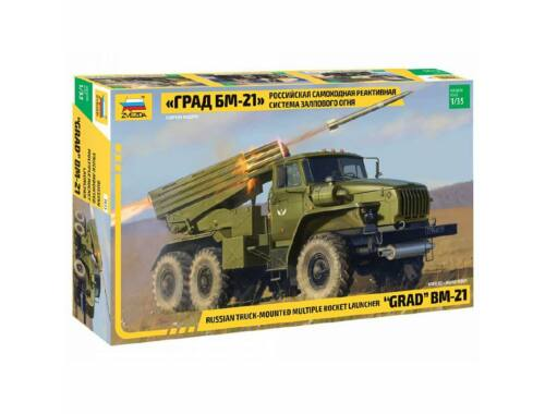 Zvezda BM-21 Grad Rocket Launcher 1:35 (3655)