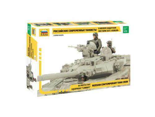 "Zvezda Russian Contemporary Tank Crew - in protective equipment ""cowboy"" 1:35 (3684)"