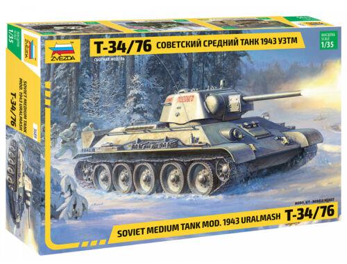 Zvezda T-34/76 mod.1943 Uralmash 1:35 (3689)