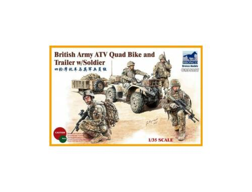 Bronco Models British Army ATV Quad Bike and Trailer w/Soldier 1:35 (CB35207)