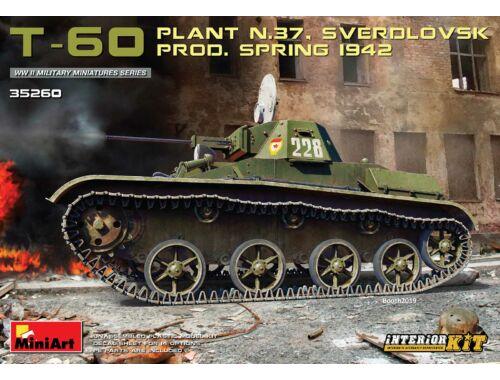 MiniArt T-60 (Plant No.37,Sverdlovsk)Prod.Spring 1942. Interior Kit 1:35 (35260)