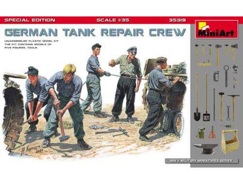 MiniArt German Tank Repair Crew.Special Edition 1:35 (35319)