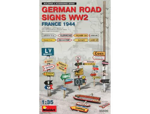 MiniArt German Road Signs WW2 (France 1944) 1:35 (35600)