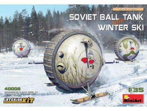 MiniArt Soviet Ball Tank with Winter Ski.Interior 1:35 (40008)