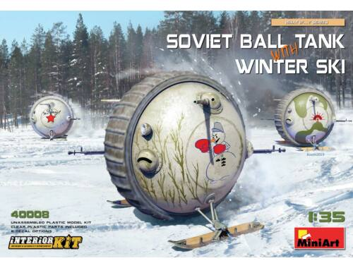 MiniArt Soviet Ball Tank with Winter Ski.Interior 1:35 (40008)