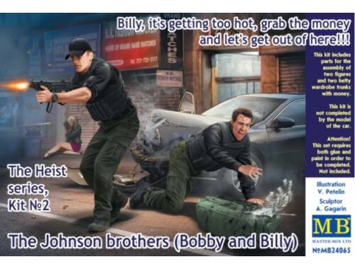 Master Box The Heist series,Kit-2. The Johnson brothers (Bobby and Billy) 1:24 (24065)