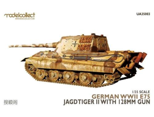 Modelcollect German WWII E75 Jagdtiger II w.128mm gun 1:35 (UA35003)