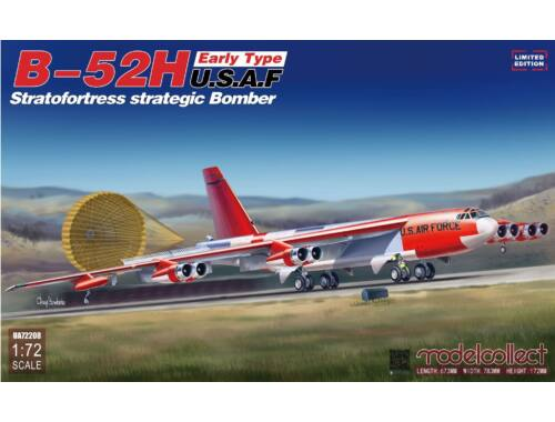 Modelcollect B-52H early type Stratofortress strategi Bomber, Limited Edition 1:72 (UA72208)