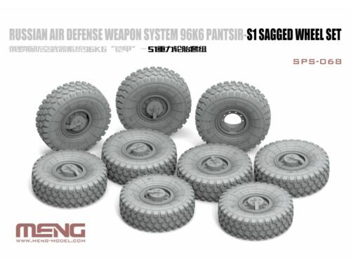 Meng Russian Air Defense Weapon System 96K6 Pantsir-S1 Sagged Wheel Set 1:35 (SPS-068)