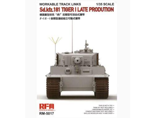 Rye Field Model TIGER I Transport Workable Track Links 1:35 (5027)