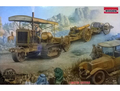 Roden Holt 75 Artillery Tractor w/BL 8-inch Howitzer 1:35 (814)