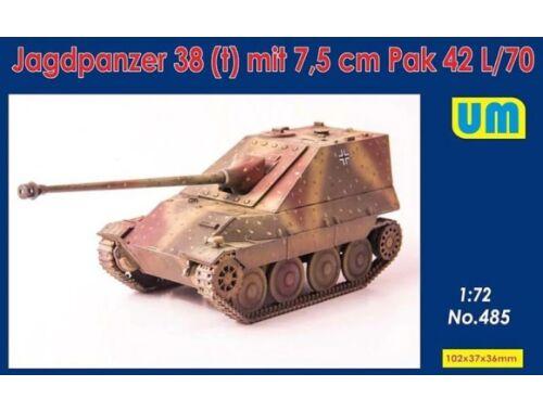 Unimodels Jagdpanzer 38(t) mit 7.5cm Pak 42 L/70 1:72 (UM485)