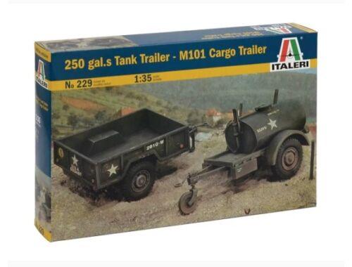Italeri 250 Gal.s Tank Trailer - M101 Carfo Trailer 1:35 (0229S)