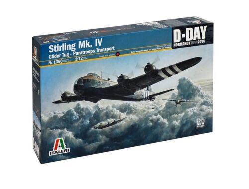 Italeri Stirling MK. IV Glider Tug Paratroops Transport 1:72 (1350)