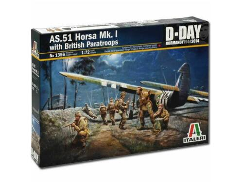 Italeri AS-51 Horsa Mk I with British Paratroops 1:72 (1356)