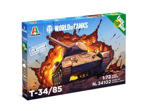 Italeri T34/85 World of Tanks 1:72 (34102)