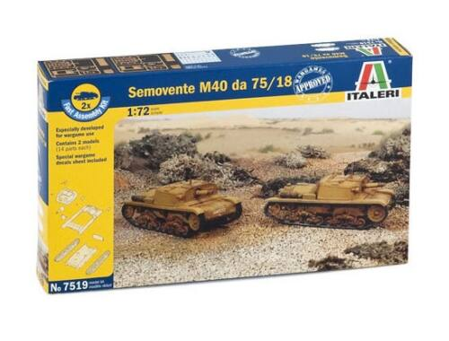 Italeri Semovente M40 da 75/18 2in1 Fast Assembly Kit 1:72 (7519)
