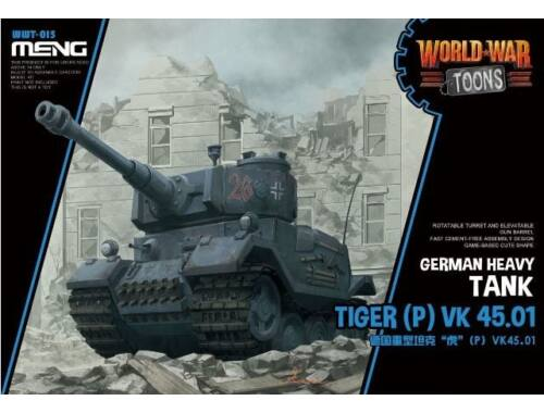 MENG German Heavy Tank Tiger (P) VK 45.01 (Cartoon Model) (WWT-015)