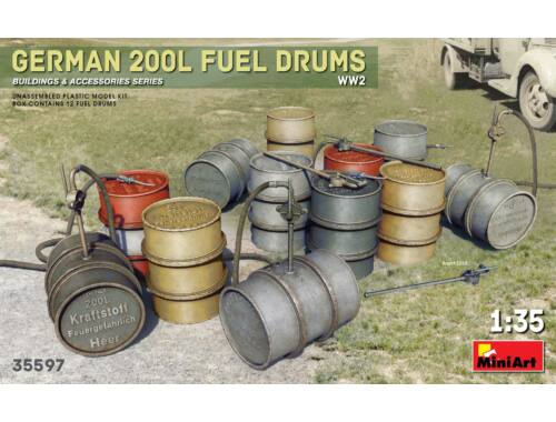 MiniArt German 200L Fuel Drum Set WW2 1:35 (35597)