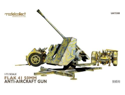 Modelcollect German WWII 50mm FLAK 41 anti-aircraft gun 1:72 (UA73308)