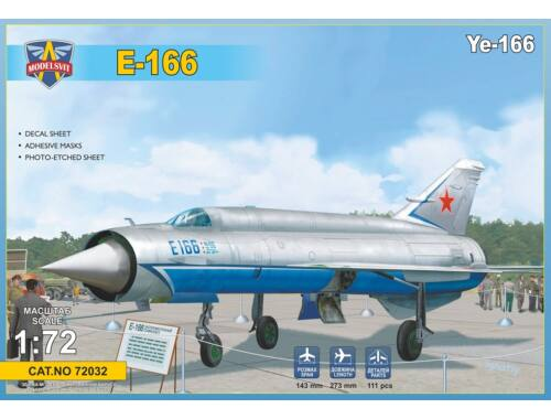 Modelsvit Ye-166 Heavy experimental interceptor 1:72 (MSVIT72032)
