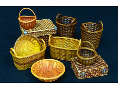 Plus model Wicker baskets big 1:35 (537)