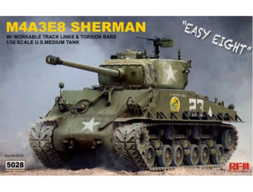 Rye Field Model SHERMAN M4A3E8 W/Workable Track links 1:35 (5028)