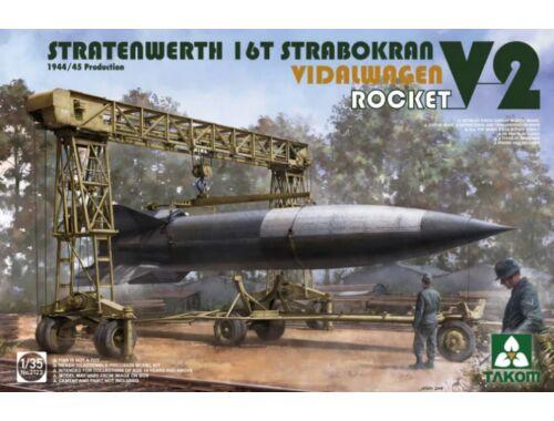 Takom Stratenwerth 16th Strabokran 1944/45 Prod./V-2 Rocket/Vidalwagen 1:35 (2123)