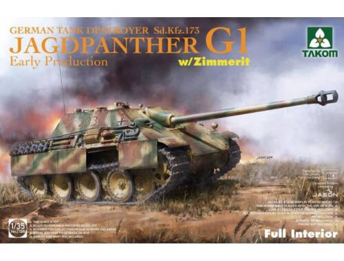 Takom Jagdpanther G1 early production German Tank Destroyer Sd.Kfz.173 w/Zimmerit/full inter 1:35 (2