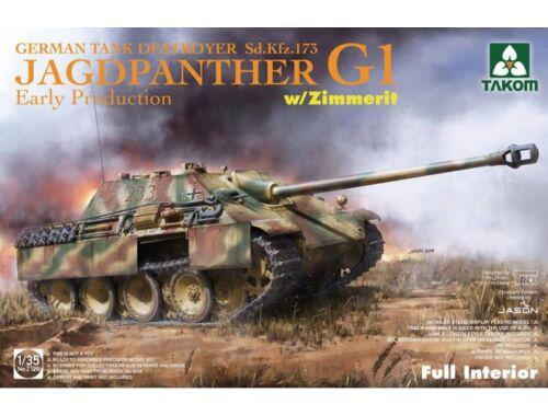 Takom Jagdpanther G1 early production German Tank Destroyer Sd.Kfz.173 w/Zimmerit/full inter 1:35 (2