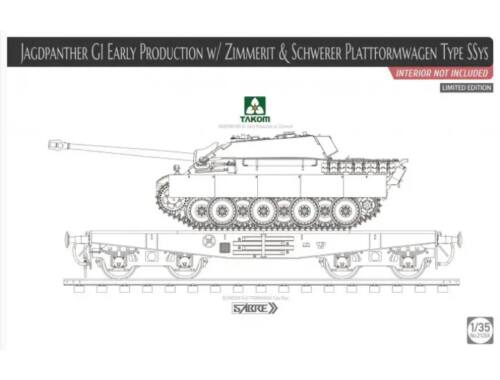 Takom Jagdpanther G1 early production w/Zimmer