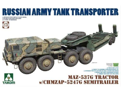 Takom MAZ-537G Tractor w/CHMZAP-5247G SEMITRAILER 1:72 (5004)
