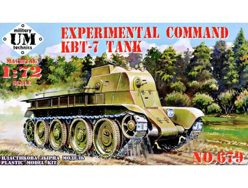 Unimodels Experimental command KBT-7 Tank 1:72 (T679)