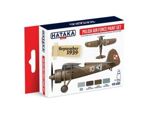 HATAKA Red Line Set (4 pcs) Polish Air Force paint set HTK-AS01
