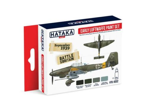 HATAKA Red Line Set (4 pcs) Early Luftwaffe paint set HTK-AS02