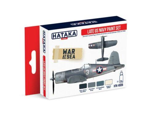 HATAKA Red Line Set (4 pcs) Late US Navy paint set HTK-AS05